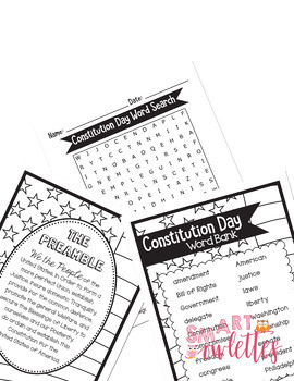 Constitution Day Activities - No Prep - Writing - Circle Map, Vocabulary & More