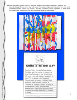 Constitution Day Activities and Crafts: U.S. Constitution Agamograph