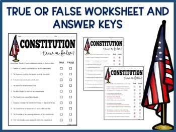 Constitution Day Activity | FREE Worksheet and PPT