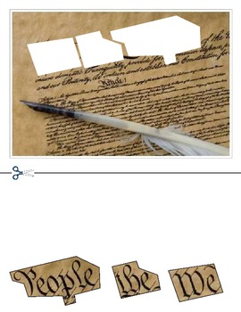 """""""Constitution Day"""" America cutting Day activities, """"We the People"""""""