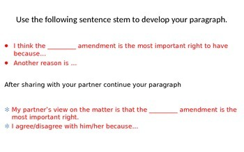 Constitution Day Argumentative writing prompt