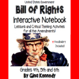 Bill of Rights Interactive Notebook, Activities for Every Amendment!