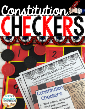 Constitution Day Checkers Game