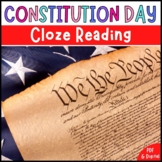Constitution Day | Cloze Reading Activity | Digital