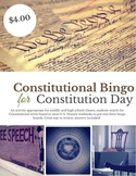 Constitution Day Constitutional Bingo