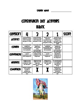 Constitution Day Differentiated Activities