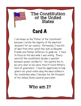 Constitution Day Founding Fathers Group Scoot Game (3rd-4th-5th-6th)