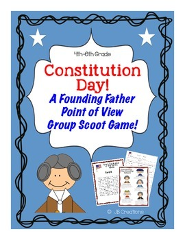 Constitution Day Founding Fathers Group Scoot Game (3rd-4t