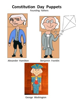 Constitution Day Founding Father's Puppets