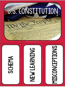 Constitution Day Free Resource - Schema Map (alternative to KWL Chart)