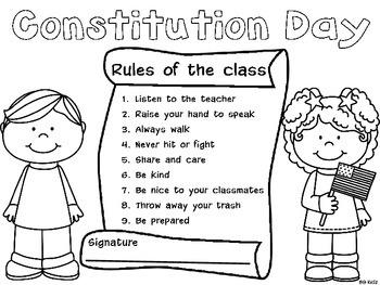 Constitution Day Freebie Kindergarten