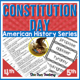 Constitution Day, Citizenship Day or 911! U.S. History  4t