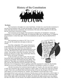 Constitution Day - History, Bill of Rights, Quiz (PDF)