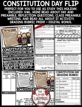 Constitution Day Activity Flip Book [United States Constitution]