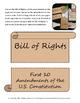 Constitution Day Interactive Notebook Activities
