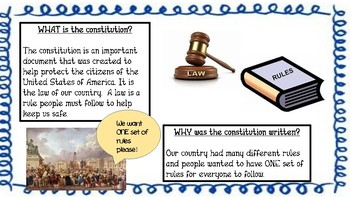 Constitution Day Leadership  Kid Friendly explainations with the 8 Habits