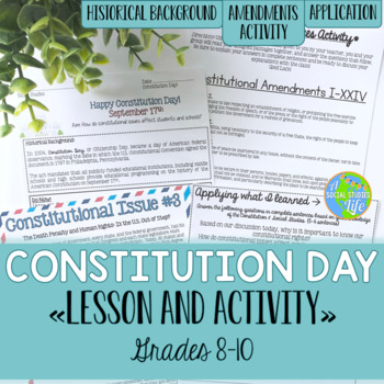 Constitution Day Lesson & Activity {grades 8-10}