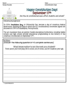 Constitution Day Activity