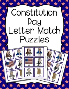 Constitution Day Letter Match Puzzles
