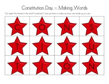 Constitution Day - Making Words