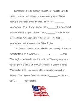 Constitution Day Math Scavenger Hunt