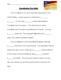 Constitution Day Math Scavenger Hunt