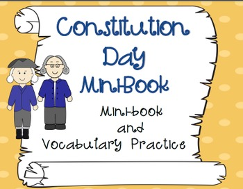 Constitution Day Mini Book and Vocabulary
