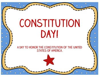 Constitution Day Mini-Lesson and Activity