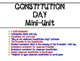 Constitution Day Mini-Unit with Create-Your-Own Classroom