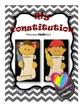 """Constitution Day: """"My Constitution"""""""
