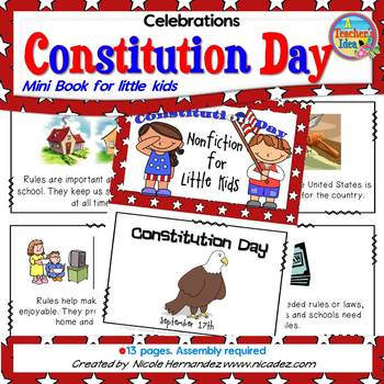 Constitution Day Reading - Mini Book for Kids