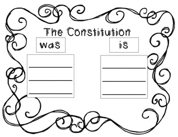 Constitution Day Nonfiction Text plus anchor chart materials and worksheet
