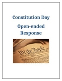 Constitution Day   Open Ended Writing
