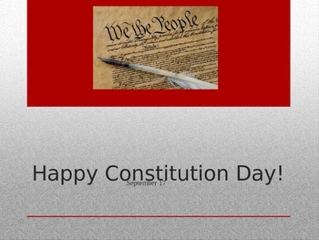 Constitution Day PPT w/ Q&A and video link