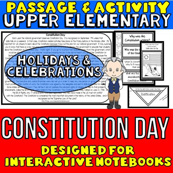 Constitution Day: Passage and Questions: Interactive Notebook