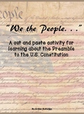 Constitution Day Preamble Activity