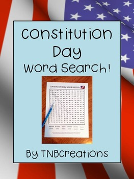 FREE Constitution Day Word Search