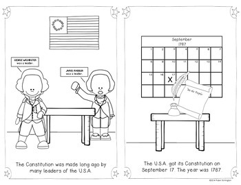 {Constitution Day} Reader for First Grade and Kindergarten