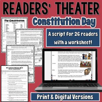 Constitution Day Readers' Theater Script (includes a bonus activity!)