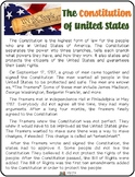 Constitution Day Reading Material K-5