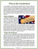 Constitution Day Reading Material MS-HS