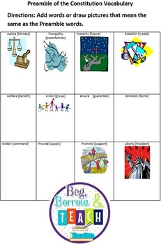 Constitution Day Reading and Writing Activity