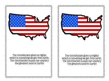 Constitution Day Rhyming Booklet