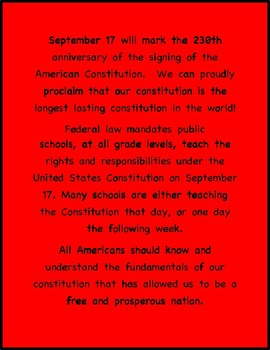 Constitution Day, September 17