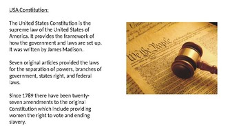 Constitution Day - September 17th Power Point review history facts information