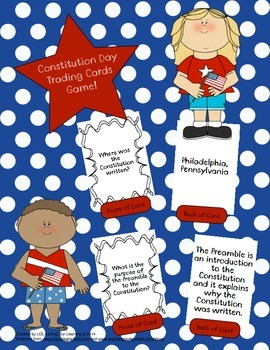 Constitution Day Trading Cards Game!