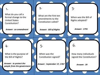 Constitution Day Trivia Board Game