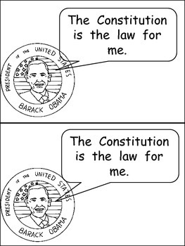 Constitution Day- Very EASY Emergent Reader- Kindergarten Color and Black/White