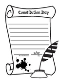 Constitution Day Writing Page