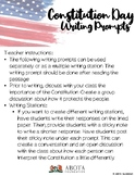 Constitution Day Writing Prompts K-5